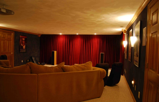 Untitled for Home theater room size